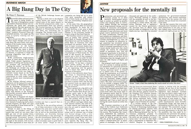 Article Preview: New proposals for the mentally ill, April 1986 | Maclean's