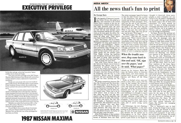Article Preview: All the news that's fun to print, April 1986 | Maclean's