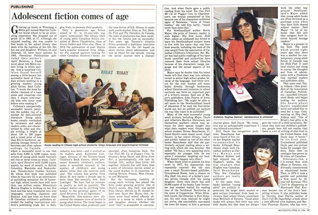 Article Preview: Adolescent fiction comes of age, April 1986 | Maclean's