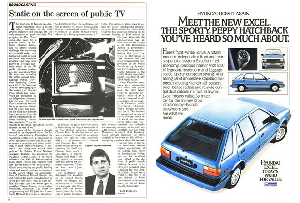 Article Preview: Static on the screen of public TV, April 1986 | Maclean's