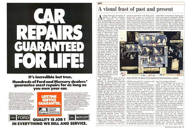 Article Preview: A visual feast of past and present, April 1986 | Maclean's