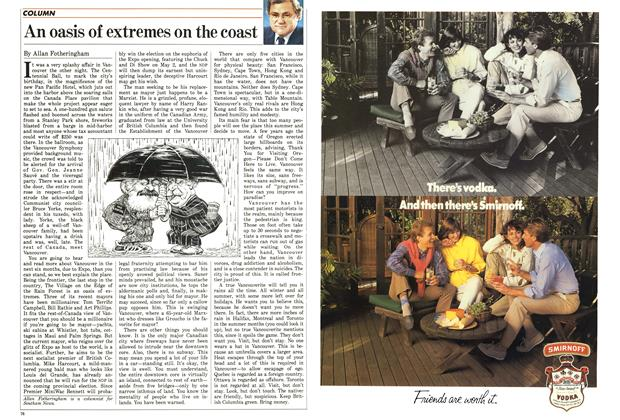 Article Preview: An oasis of extremes on the coast, April 1986 | Maclean's