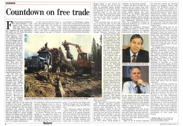 Article Preview: Countdown on free trade, April 1986 | Maclean's