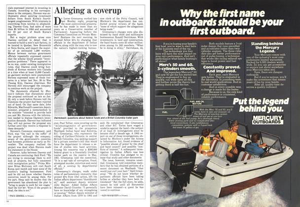 Article Preview: Alleging a coverup, April 1986 | Maclean's