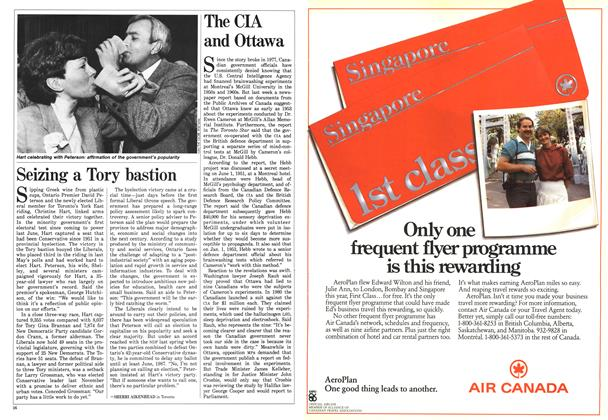 Article Preview: The CIA and Ottawa, April 1986 | Maclean's