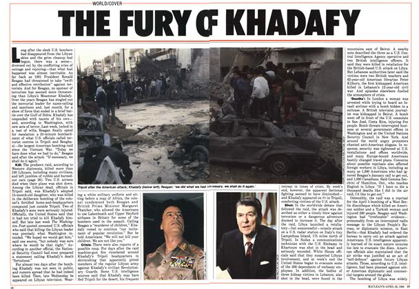 Article Preview: THE FURY OF KHADAFY, April 1986 | Maclean's