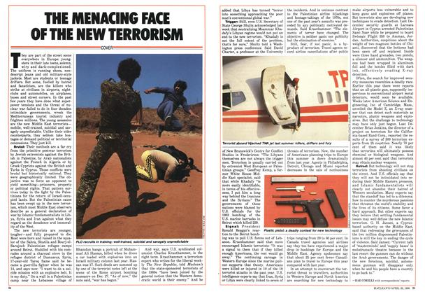 Article Preview: THE MENACING FACE OF THE NEW TERRORISM, April 1986 | Maclean's