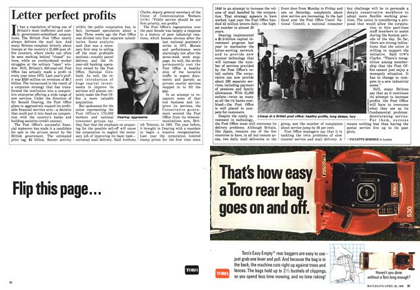 Article Preview: Letter perfect profits, April 1986 | Maclean's