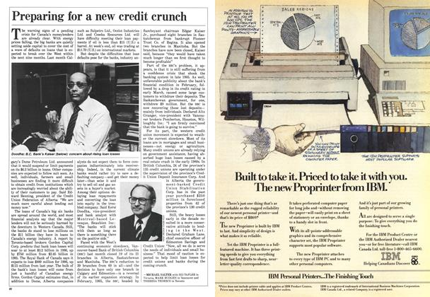 Article Preview: Preparing for a new credit crunch, April 1986 | Maclean's