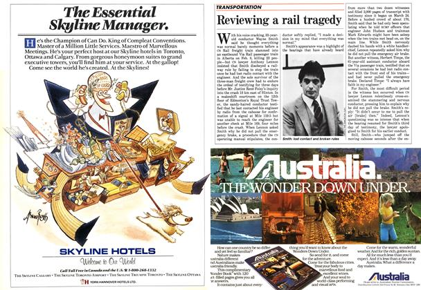 Article Preview: Reviewing a rail tragedy, April 1986 | Maclean's