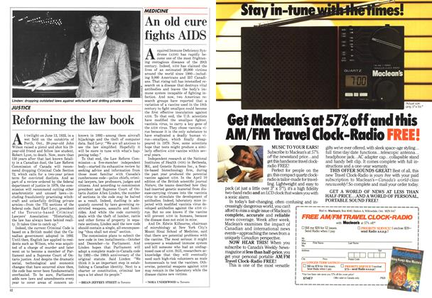 Article Preview: Reforming the law book, April 1986 | Maclean's