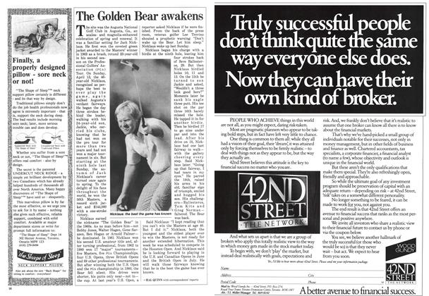 Article Preview: The Golden Bear awakens, April 1986 | Maclean's