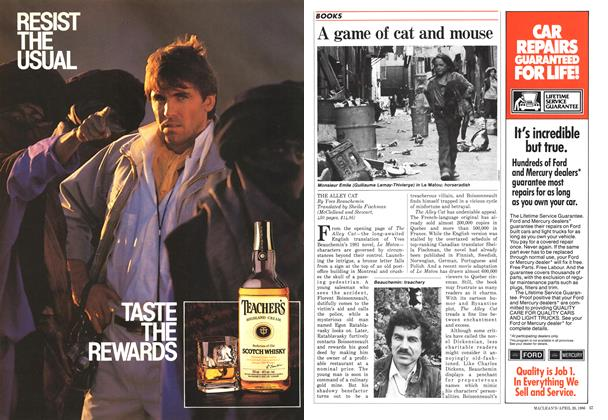 Article Preview: A game of cat and mouse, April 1986 | Maclean's