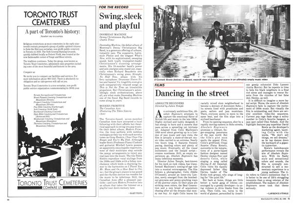 Article Preview: Dancing in the street, April 1986 | Maclean's
