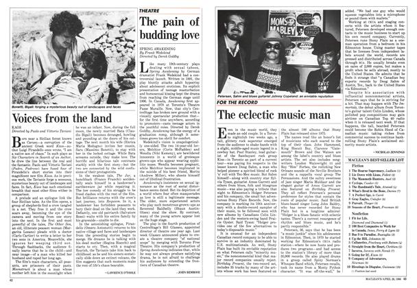 Article Preview: The eclectic music man, April 1986 | Maclean's