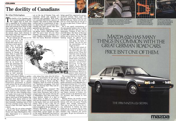 Article Preview: The docility of Canadians, April 1986 | Maclean's