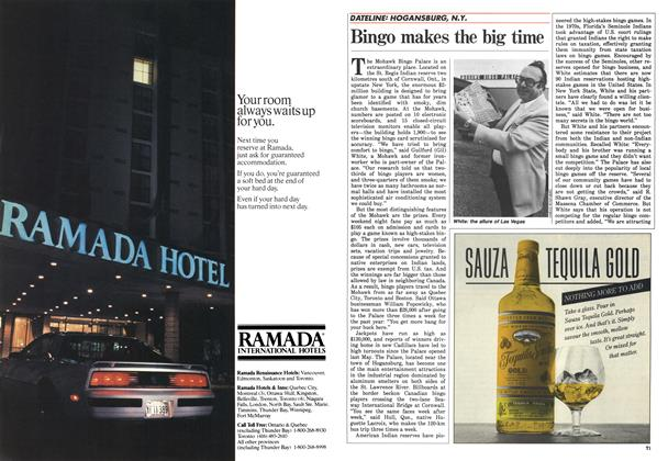 Article Preview: Bingo makes the big time, April 1986 | Maclean's