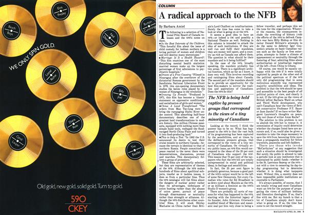 Article Preview: A radical approach to the NFB, April 1986 | Maclean's