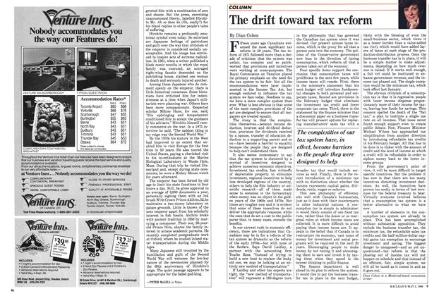 Article Preview: The drift toward tax reform, May 1986 | Maclean's
