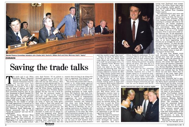 Article Preview: Saving the trade talks, May 1986 | Maclean's