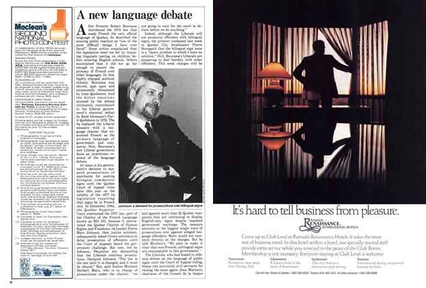Article Preview: A new language debate, May 1986 | Maclean's