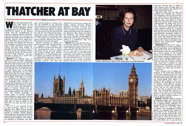 Article Preview: THATCHER AT BAY, May 1986 | Maclean's