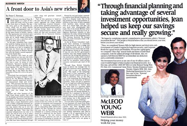 Article Preview: A front door to Asia's new riches, May 1986 | Maclean's