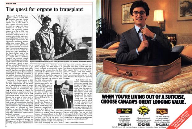 Article Preview: The quest for organs to transplant, May 1986 | Maclean's
