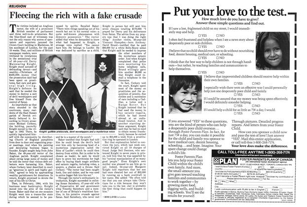 Article Preview: Fleecing the rich with a fake crusade, May 1986 | Maclean's