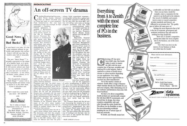 Article Preview: An off-screen TV drama, May 1986 | Maclean's
