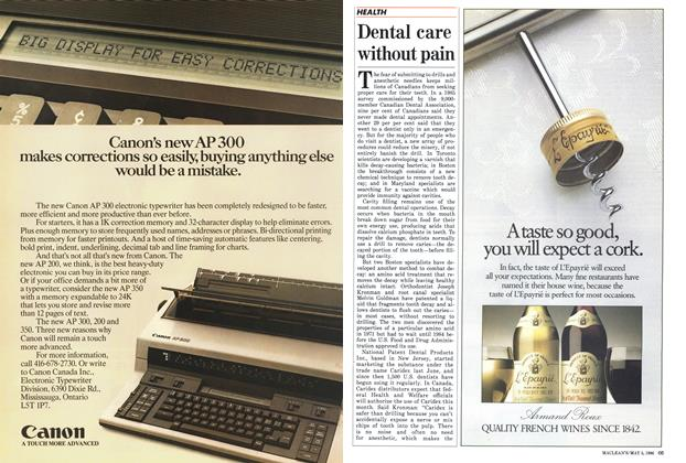 Article Preview: Dental care without pain, May 1986 | Maclean's