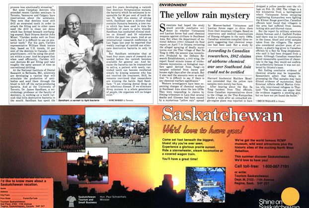 Article Preview: The yellow rain mystery, May 1986 | Maclean's