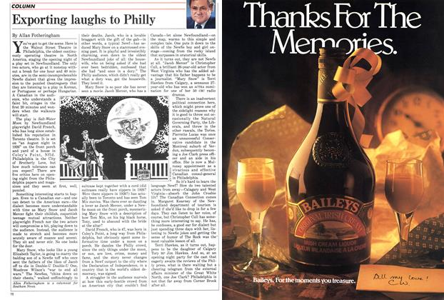 Article Preview: Exporting laughs to Philly, May 1986 | Maclean's