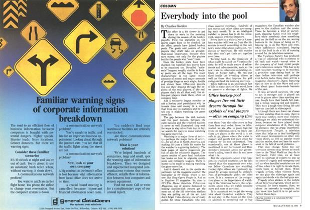 Article Preview: Everybody into the pool, MAY 12,1986 1986 | Maclean's