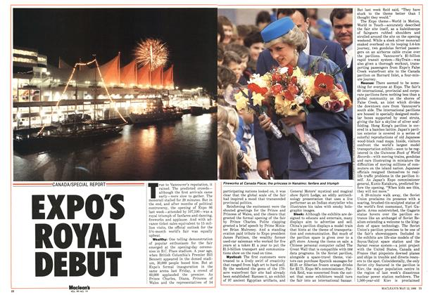 Article Preview: EXPO'S ROYAL DEBUT, MAY 12,1986 1986 | Maclean's