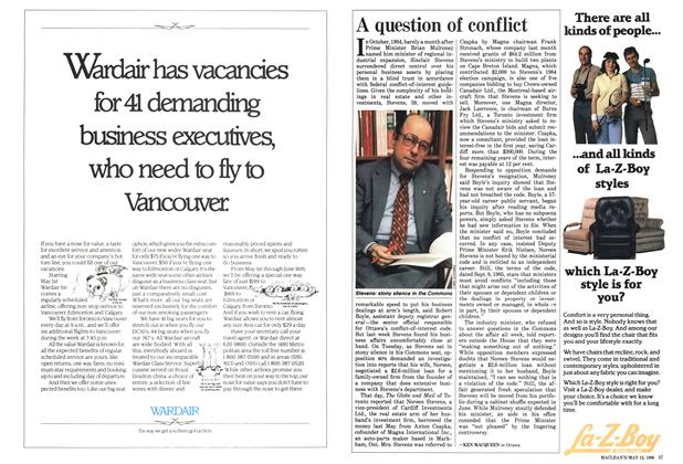 Article Preview: A question of conflict, MAY 12,1986 1986 | Maclean's
