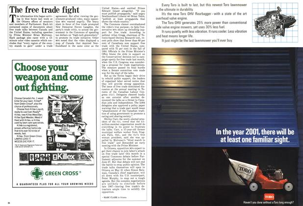 Article Preview: The free trade fight, MAY 12,1986 1986   Maclean's