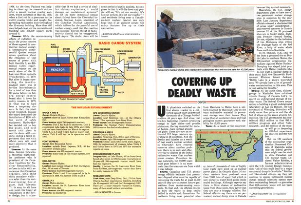 Article Preview: COVERING UP DEADLY WASTE, MAY 12,1986 1986 | Maclean's