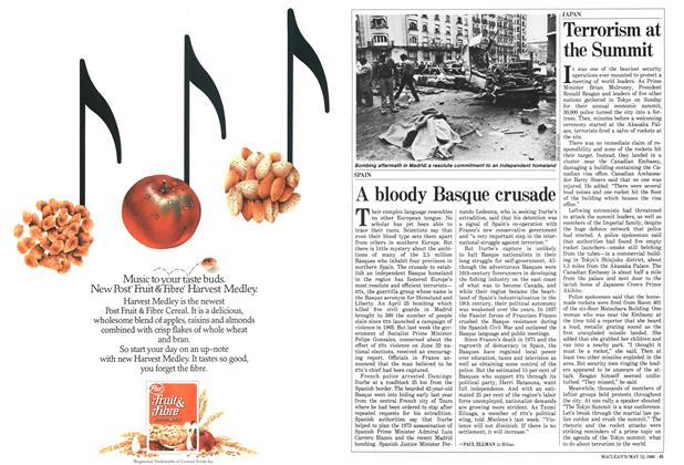 Article Preview: A bloody Basque crusade, MAY 12,1986 1986 | Maclean's