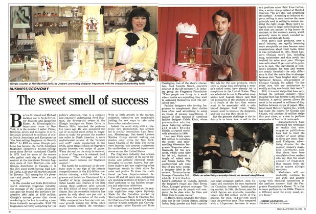 Article Preview: The sweet smell of success, MAY 12,1986 1986 | Maclean's