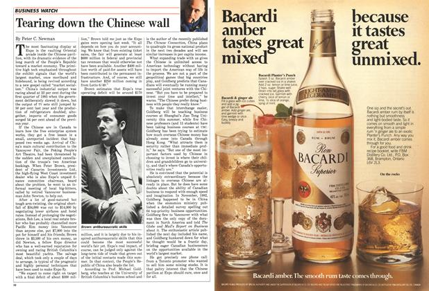 Article Preview: Tearing down the Chinese wall, MAY 12,1986 1986 | Maclean's