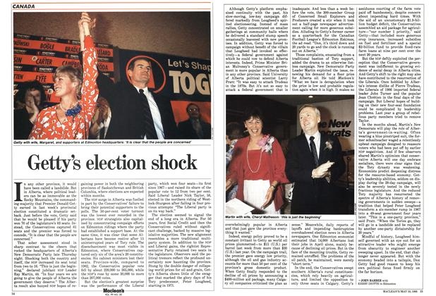 Article Preview: Getty's election shock, May 1986 | Maclean's