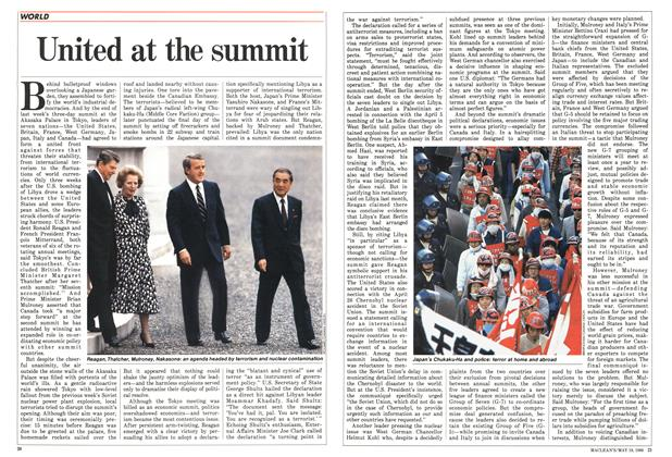 Article Preview: United at the summit, May 1986 | Maclean's