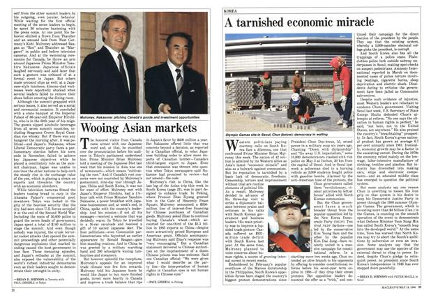 Article Preview: Wooing Asian markets, May 1986 | Maclean's
