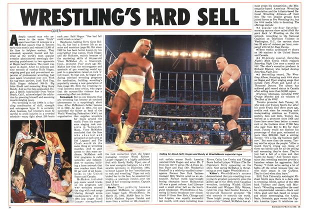 Article Preview: WRESTLING'S HARD SELL, May 1986 | Maclean's