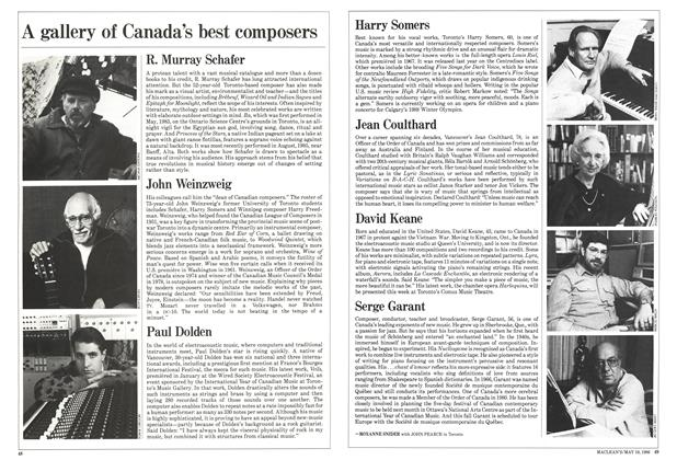 Article Preview: A gallery of Canada's best composers, May 1986 | Maclean's