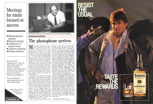 Article Preview: The photophone arrives, May 1986 | Maclean's