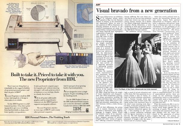Article Preview: Visual bravado from a new generation, May 1986 | Maclean's