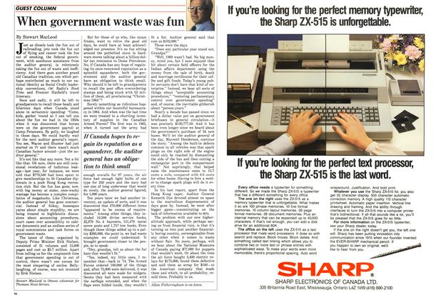 Article Preview: When government waste was fun, May 1986 | Maclean's