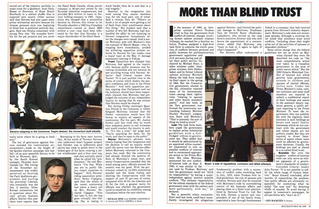 Article Preview: MORE THAN BLIND TRUST, May 1986 | Maclean's
